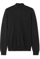 Tom Ford Cashmere And Silk Blend Turtleneck Sweater Black
