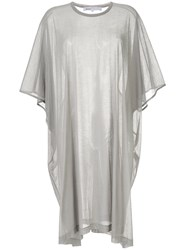 08Sircus Sheer T Shirt Dress Grey