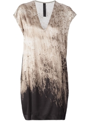 Ilaria Nistri Distressed Print T Shirt Dress