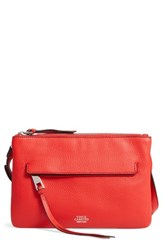 Vince Camuto Gally Leather Crossbody Bag Red Flame