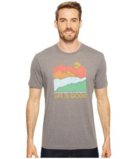 Life Is Good Isn't Easy Mountains Cool Tee Slate Gray T Shirt