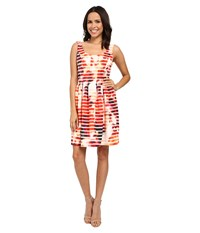 Jessica Simpson Printed Scuba Fit And Flare Print Dress Multi