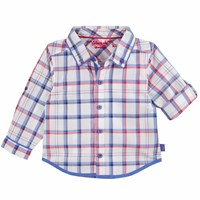 Chateau De Sable French Designer Classic Checked Shirt Red