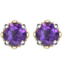 Theo Fennell 18Ct White And Rose Gold Amethyst Blossom Bud Earrings