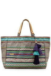 Star Mela Elsa Embroidered Jute Tote Gr. One Size