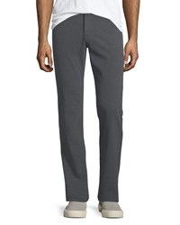 Ag Jeans Graduated Melange Wool Trousers Dark Ridge
