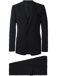 Dolce And Gabbana Three Piece Suit Black