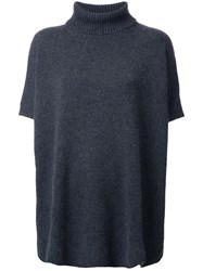 Ermanno Scervino Turtleneck Shortsleeved Jumper Grey