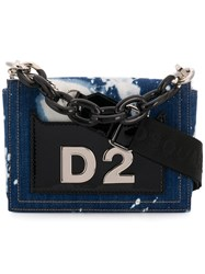 Dsquared2 Bleached Denim Tote Bag Blue