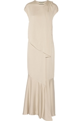 By Malene Birger Diamante Satin Jersey Gown