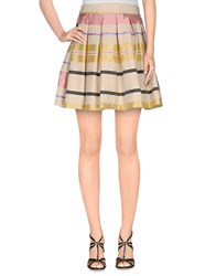 Noshua Skirts Mini Skirts Women Ivory