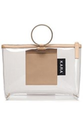 Kara Woman Pebbled Leather And Pvc Tote Sand