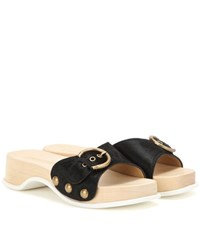Marc Jacobs Leather Sandals Black