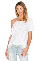 Twenty Sheer Current Jersey Top White