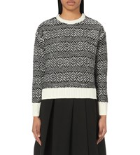 Izzue Mono Flecked Knitted Jumper White