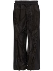 By Walid Sergio Embroidered Trousers Black