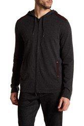 John Varvatos Zip Front Hoodie Sweater Black