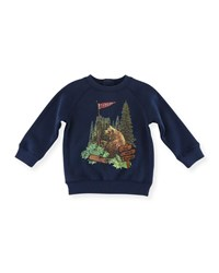 Stella Mccartney Billy Bear Graphic Sweatshirt Size 12 36 Months Navy