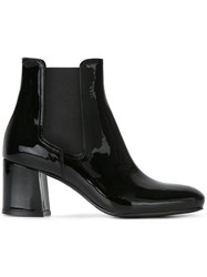 Le Silla Block Heel Ankle Boots Black