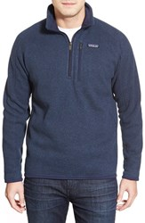 Men's Patagonia 'Better Sweater' Quarter Zip Pullover Classic Navy