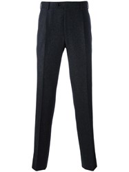 Massimo Piombo Mp Pleated Flannel Trousers Grey