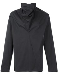Damir Doma Asymmetric Collar Jacket Grey