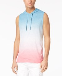 American Rag Men's Sleeveless Tie Dye Hoodie Created For Macy's Blue Storm