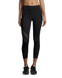 Michi Suprastelle Mesh Panel Performance Leggings Black