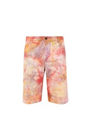 Aries Eco Tie Dye Denim Shorts Multi