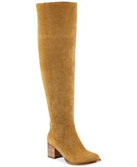 Marc Fisher Escape Tall Wide Calf Boots Women's Shoes Medium Brown