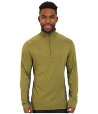 Royal Robbins Go Everywhere 1 4 Zip Shirt Spanish Moss Men's Long Sleeve Pullover Olive