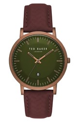 Ted Baker London David Leather Strap Watch 40Mm