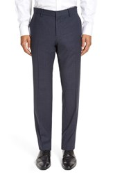 Boss Men's 'Genesis' Flat Front Check Stretch Wool Trousers