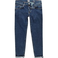 River Island Mens Blue Sid Cropped Skinny Jeans