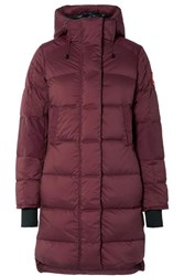 Canada Goose Alliston Hooded Quilted Shell Down Coat Plum