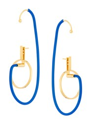 Paula Mendoza Shiva Earrings Blue