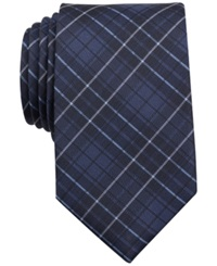 Bar Iii Surly Plaid Slim Tie Only At Macy's Navy