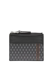 Dunhill Engine Turn Zipped Leather Cardholder Grey