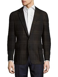 Ralph Lauren Tailored Fit Plaid Sportcoat Brown Olive