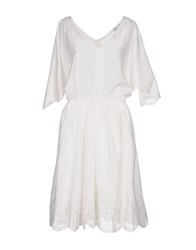 Brigitte Bardot Knee Length Dresses White