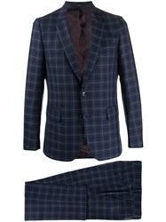 Paul Smith Check Print Two Piece Suit 60