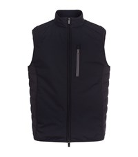 Armani Collezioni Quilted Back Gilet Male Navy