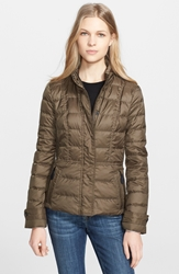 Burberry 'Dalesbury' Quilted Down Jacket Military Olive