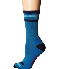 Smartwool Striped Hike Light Crew Glacial Blue Women's Crew Cut Socks Shoes