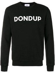Dondup Logo Printed Sweatshirt Black