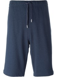 Sunspel Loopback Sweat Shorts Blue