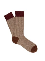 Pantherella Scott Nichol Burghley Socks Light Brown