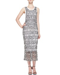 Mcq By Alexander Mcqueen Open Stitch Sheer Fitted Tank Dress