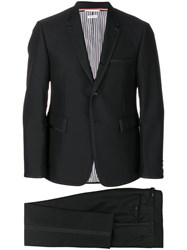 Thom Browne Piping Detail Dinner Suit Cupro Mohair Wool Black