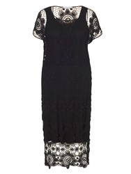 Chesca Crochet Dress With Separate Lining Black